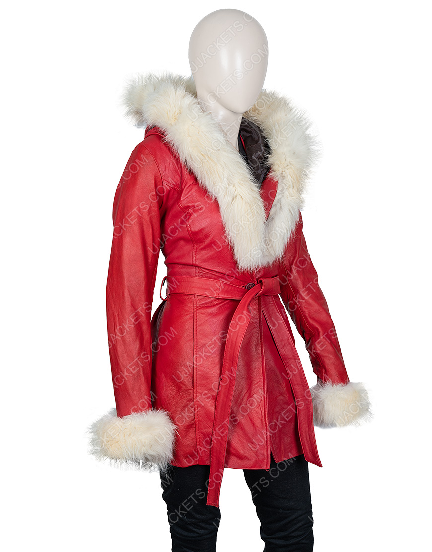 Mrs. Claus The Christmas Chronicles Goldie Hawn Hooded Parka Jacket
