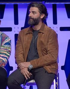 Oscar-Isaac-Star-Wars-The-Rise-of-Skywalker-Brown-Suede-Jacket