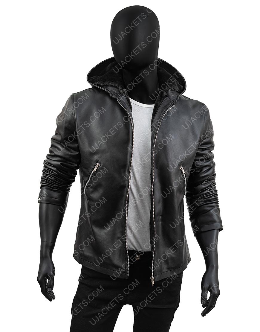 Power Tommy Egan Black Sheepskin Leather Jacket
