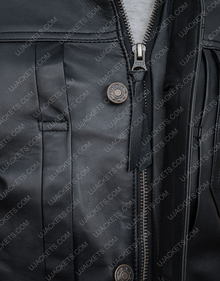 Sebastian The Falcon And The Winter Soldier Black Jacket