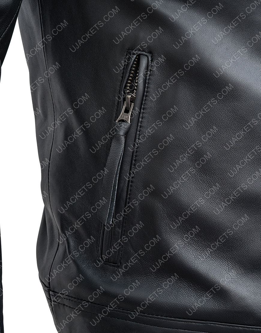 Sebastian The Falcon And The Winter Soldier Black Leather Jacket