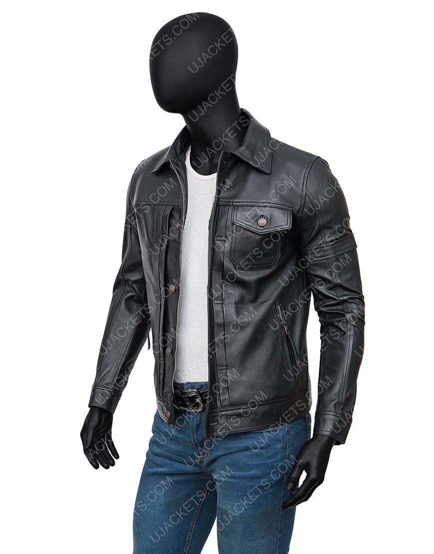 The Falcon And The Winter Soldier Sebastian Black Leather Jacket