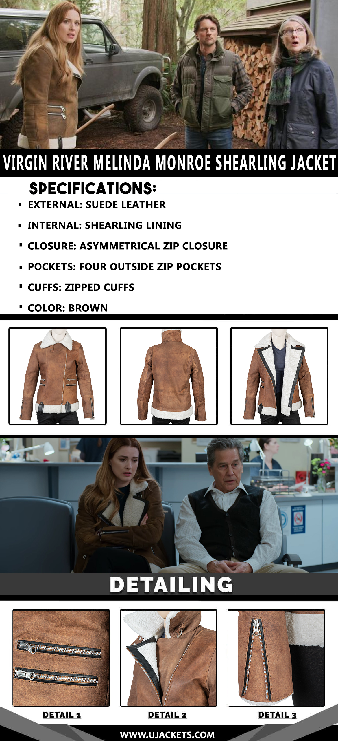infographic-U-Virgin-River-Melinda-Monroe-Shearling-Jacket (1)