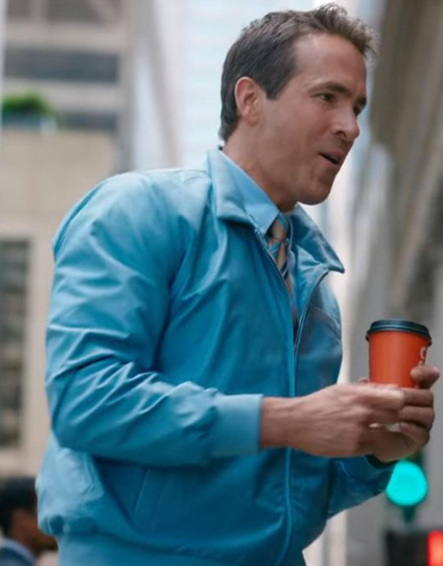 ryan-reynolds-free-guy-blue-bomber-jacket