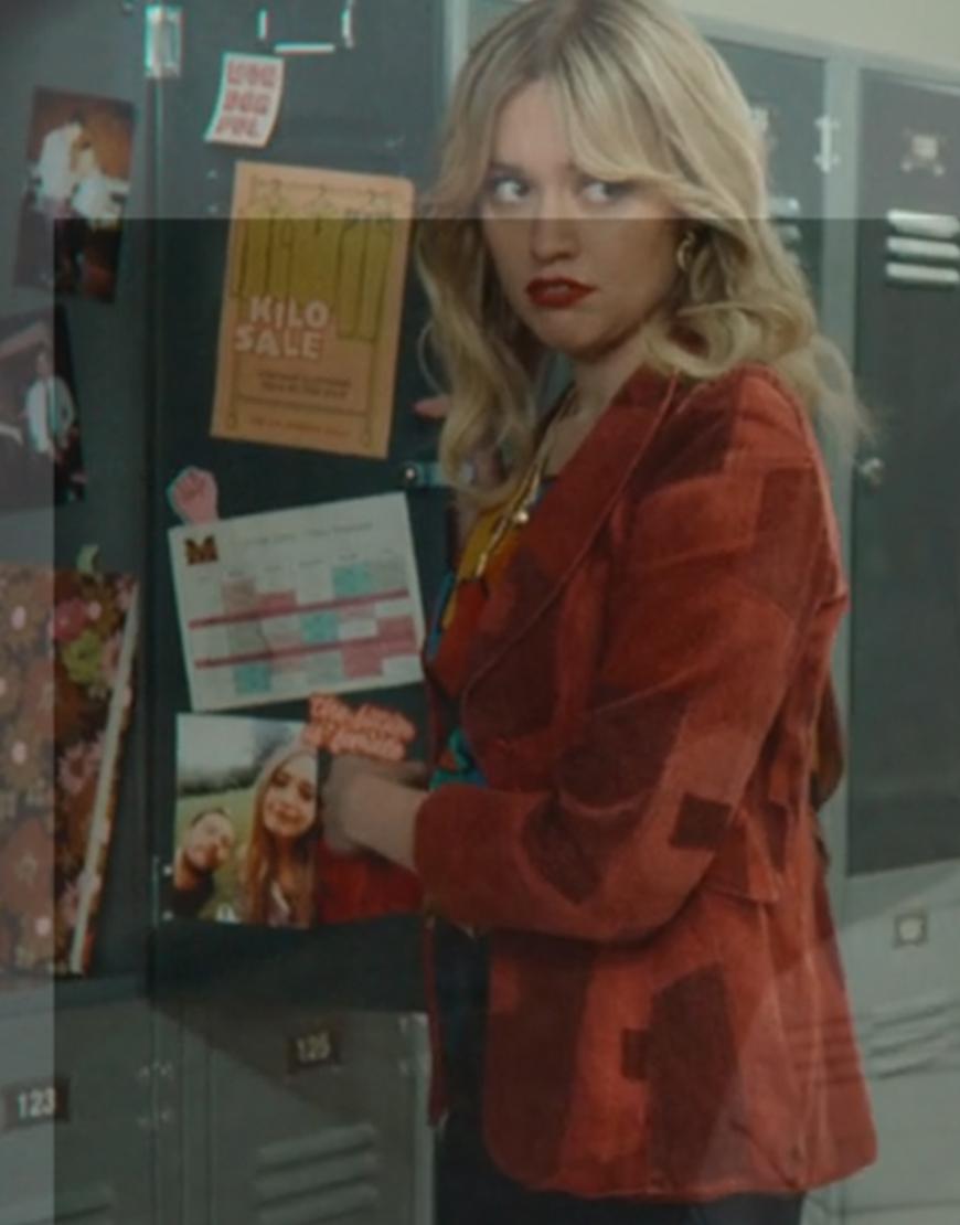 Aimee Gibbs Sex Education Season 3 Aimee Lou Wood Red Velvet Jacket