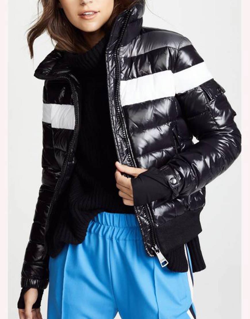 Amanda-Zhou-Spinning-Out-Black-Striped-Bomber-Jacket