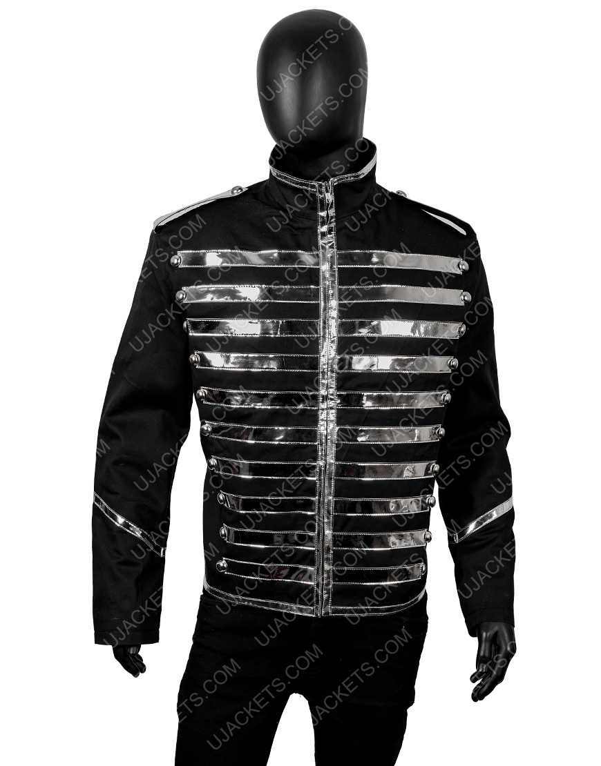 Black Cotton Parade Jacket From The Band My Chemical Romance.