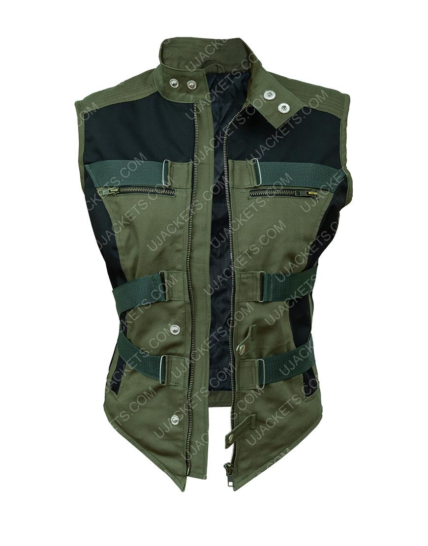 Florence Pugh Black Widow 2020 Black Cotton Vest