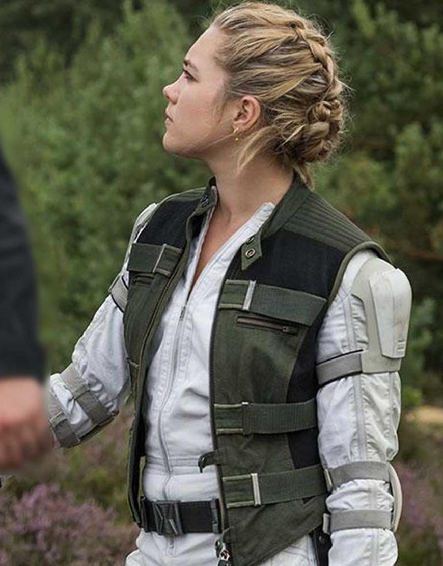 Florence Pugh Black Widow 2020 Yelena Belova Black Cotton Vest