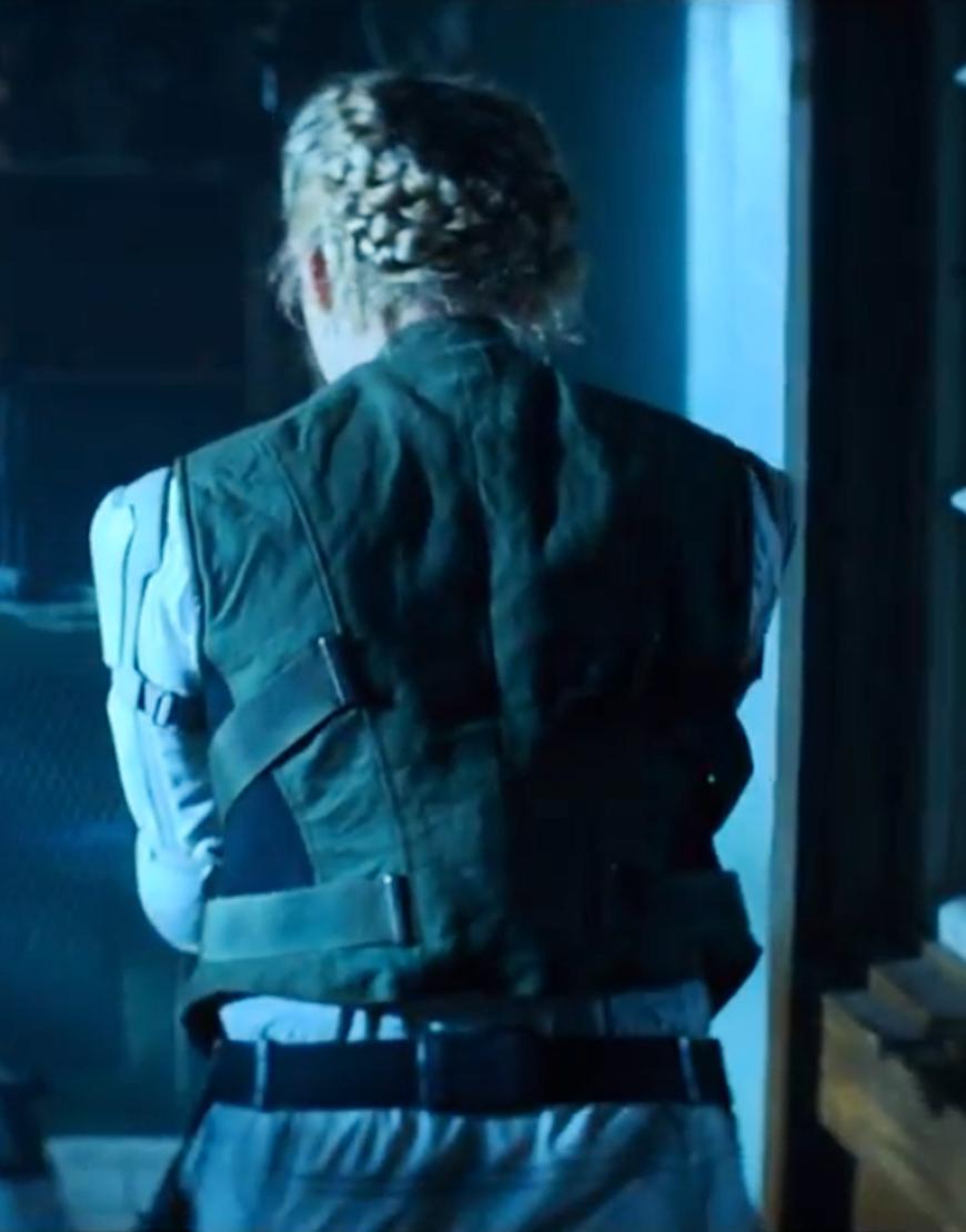 Florence Pugh Black Widow 2020 Yelena Belova Black Vest