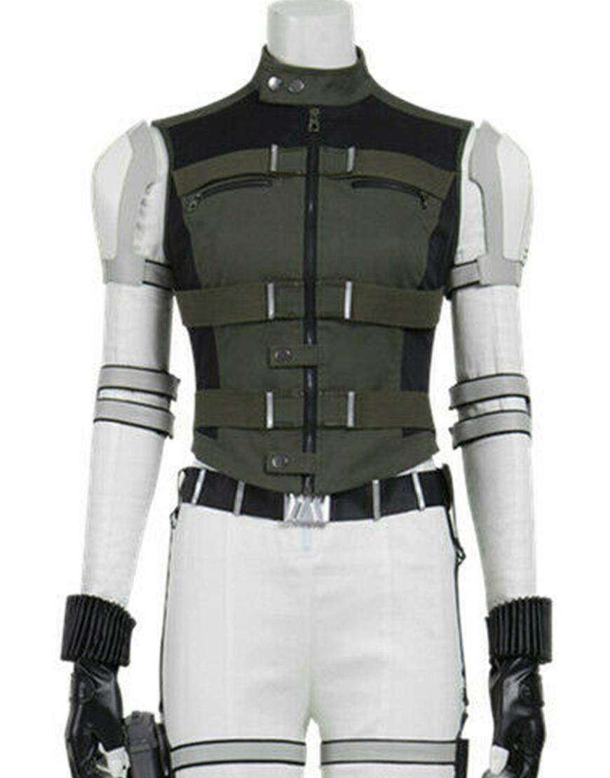 Florence Pugh Black Widow Yelena Belova Black Cotton Vest