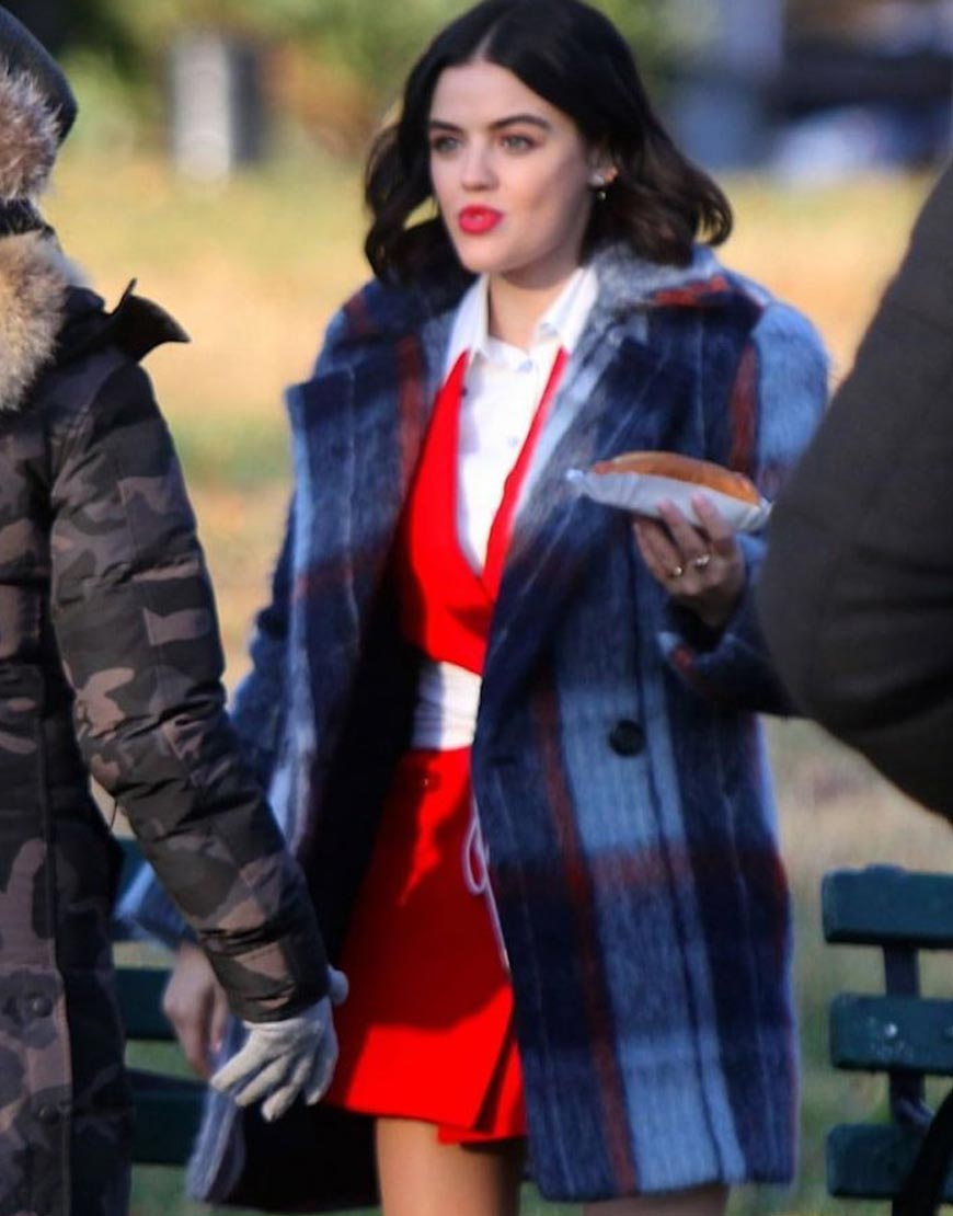 Lucy-Hale-Checked-Coat