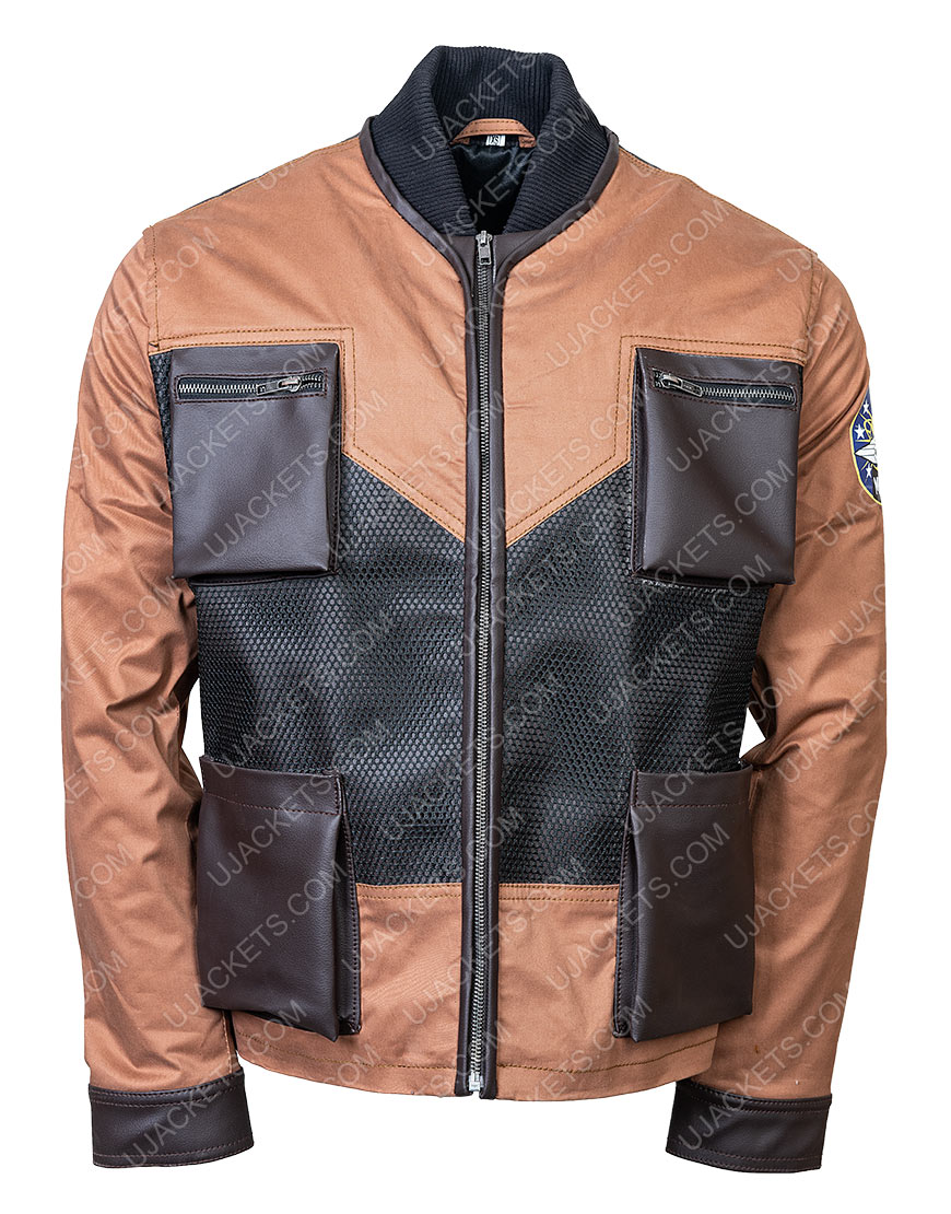 Maxwell Jenkins Lost In Space Will Robinson Brown Leather Jacket