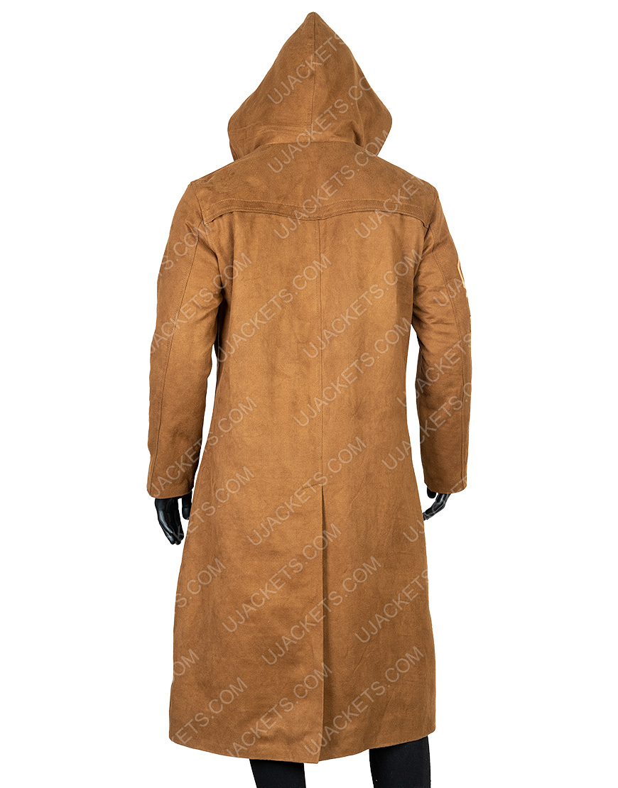 Oscar Issac Star Wars The Rise Of Skywalker Brown Leather Coat