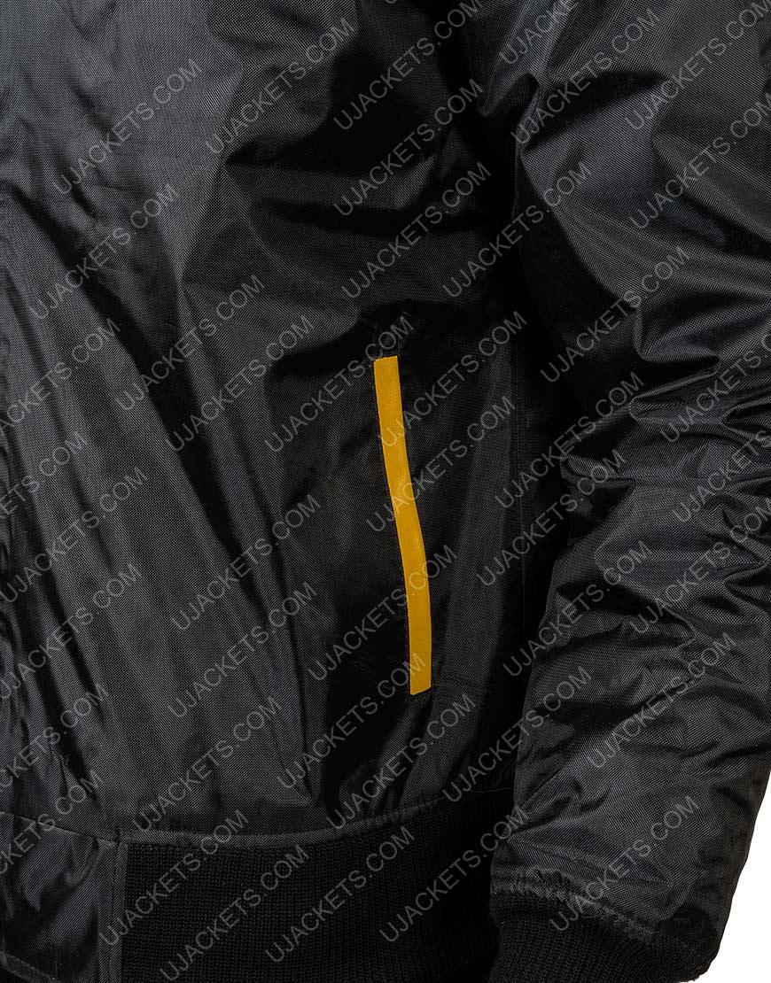 Rocky 3 Italian Stallion Black Bomber Jacket