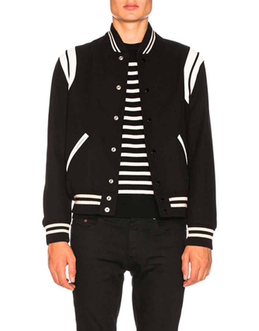 Saint-Laurent-Teddy-Bomber-Jacket-in-Black