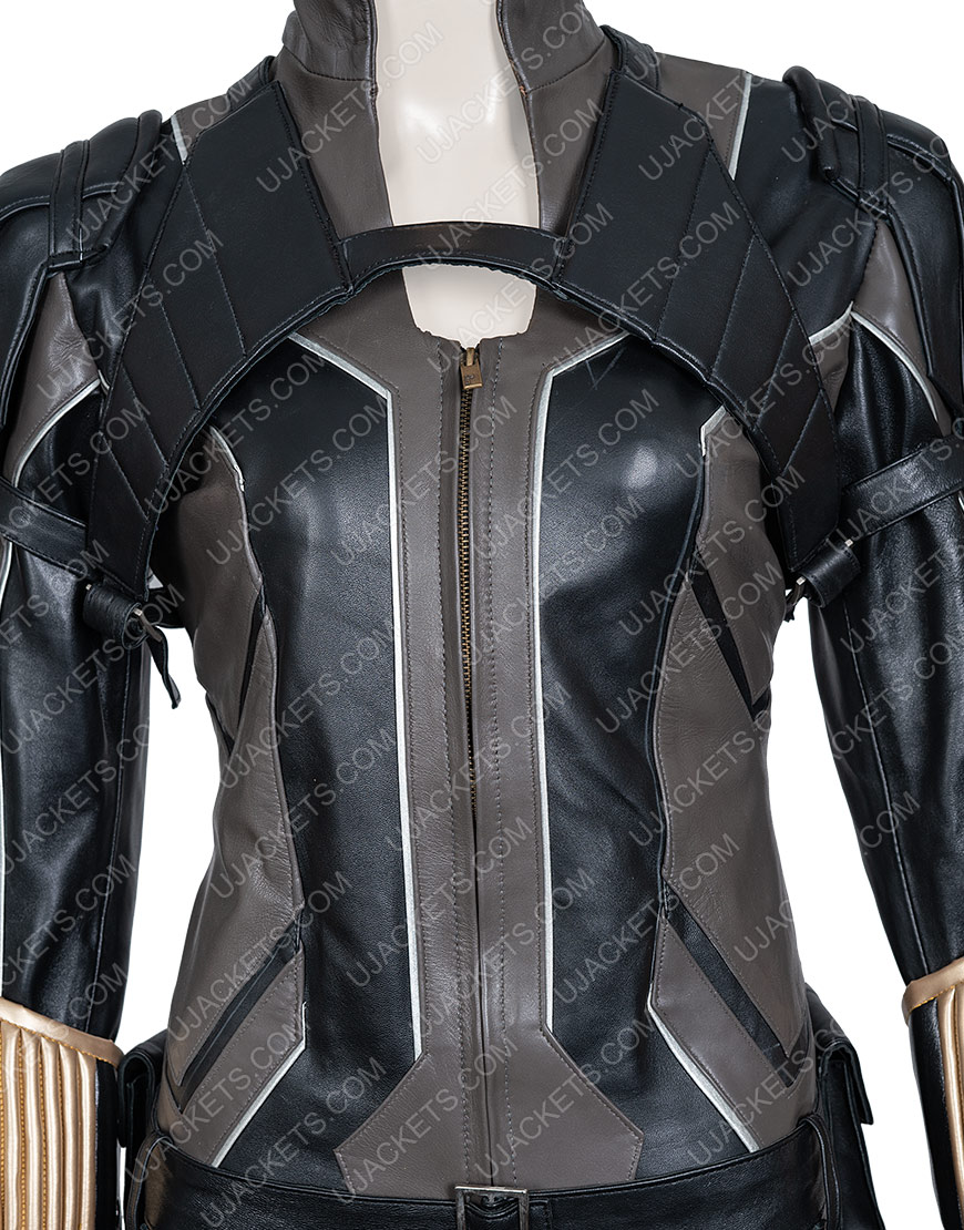 Scarlett Johansson Black Widow Movie Black Leather Jacket