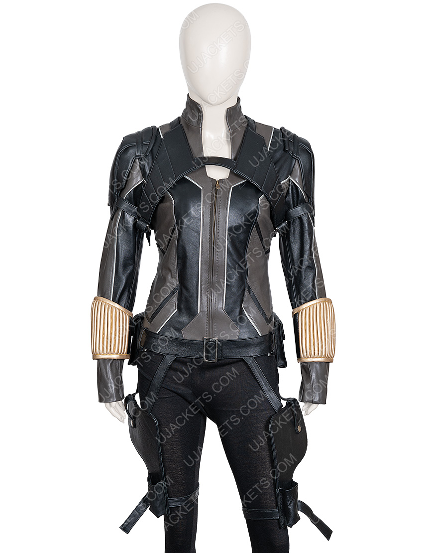 Scarlett Johansson Black Widow Movie Leather Jacket