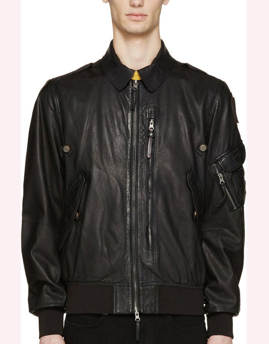 Spinning-Out-Justin-Davis-Black-Leather-Jacket