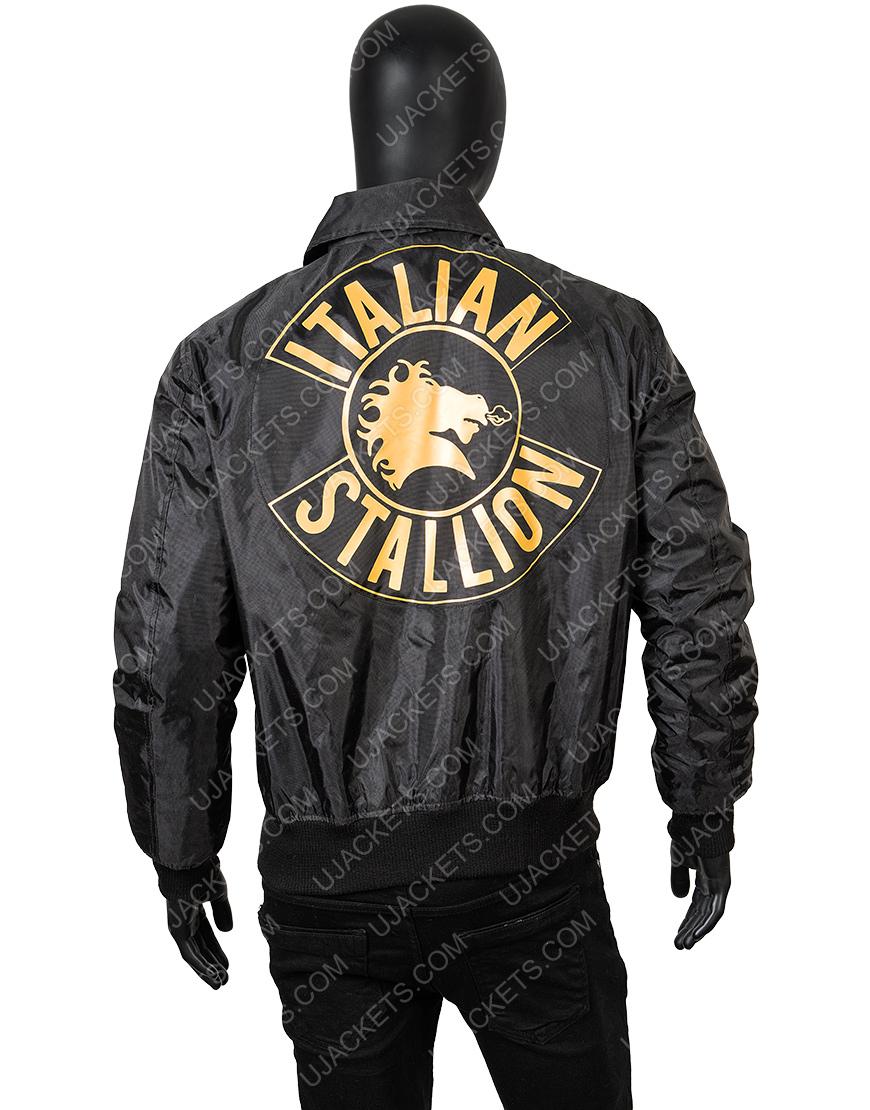 Sylvester Rocky 3 Italian Stallion Black Bomber Jacket