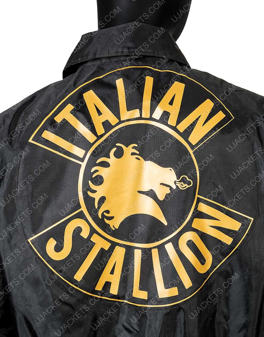 Sylvester Stallone Rocky 3 Black Bomber Jacket