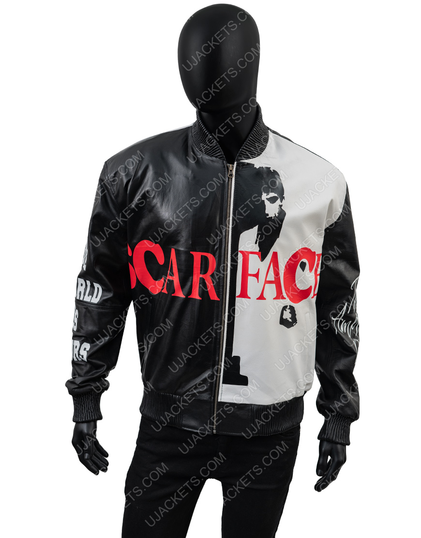 Tony Montana Scarface Al Pacino Black Leather Jacket