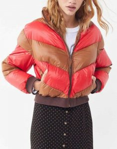 Willow-Shields-Red-and-Tan-Spinning-Out-Puffer-Jacket