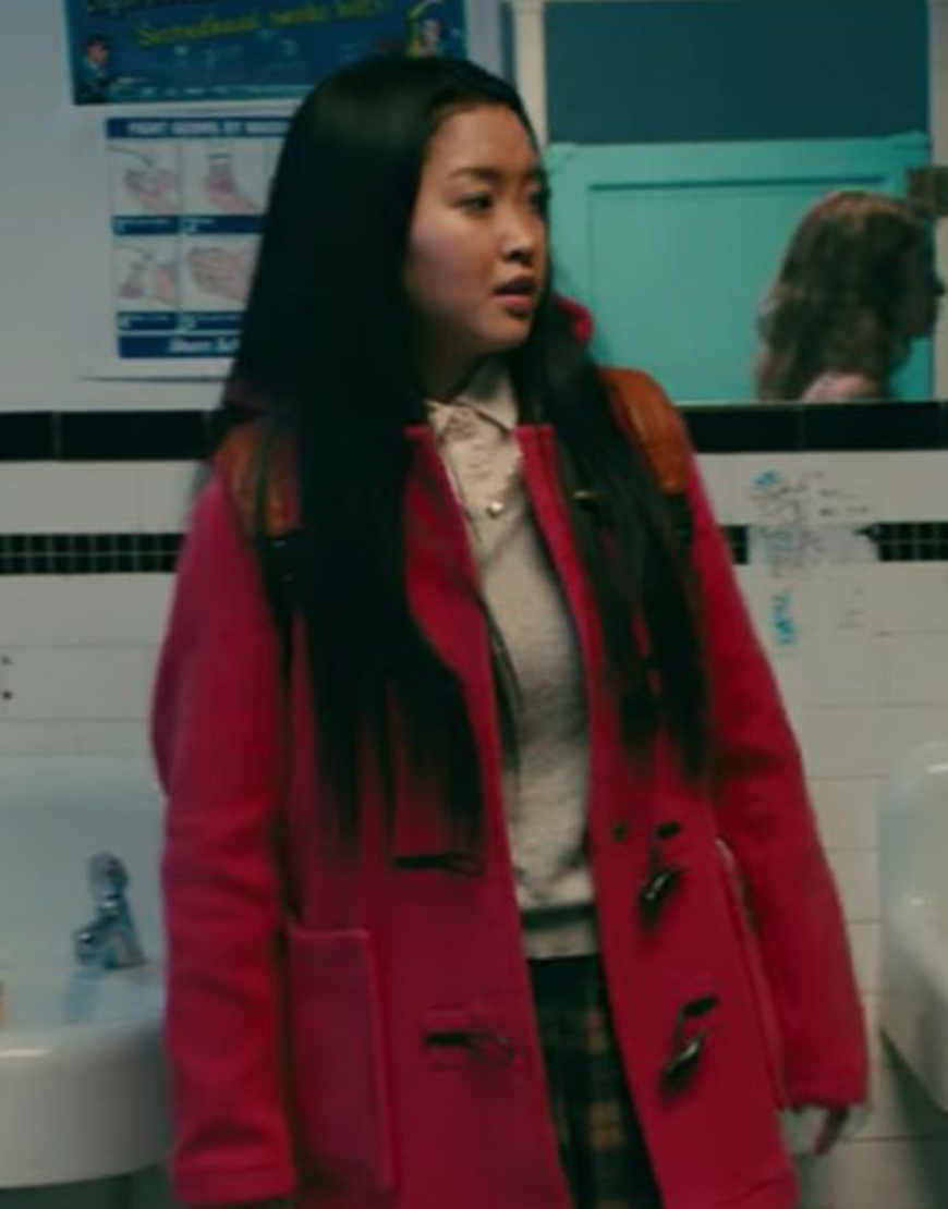 To All the Boys P.S. I Still Love You Lara Jean Hooded Red Coat