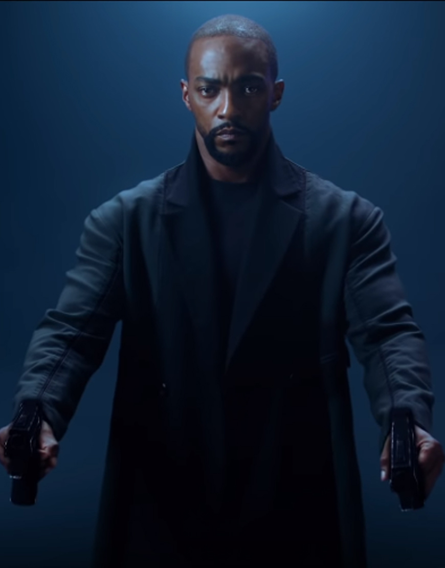 Altered Carbon Season 2 Anthony Mackie Coat Men S Black