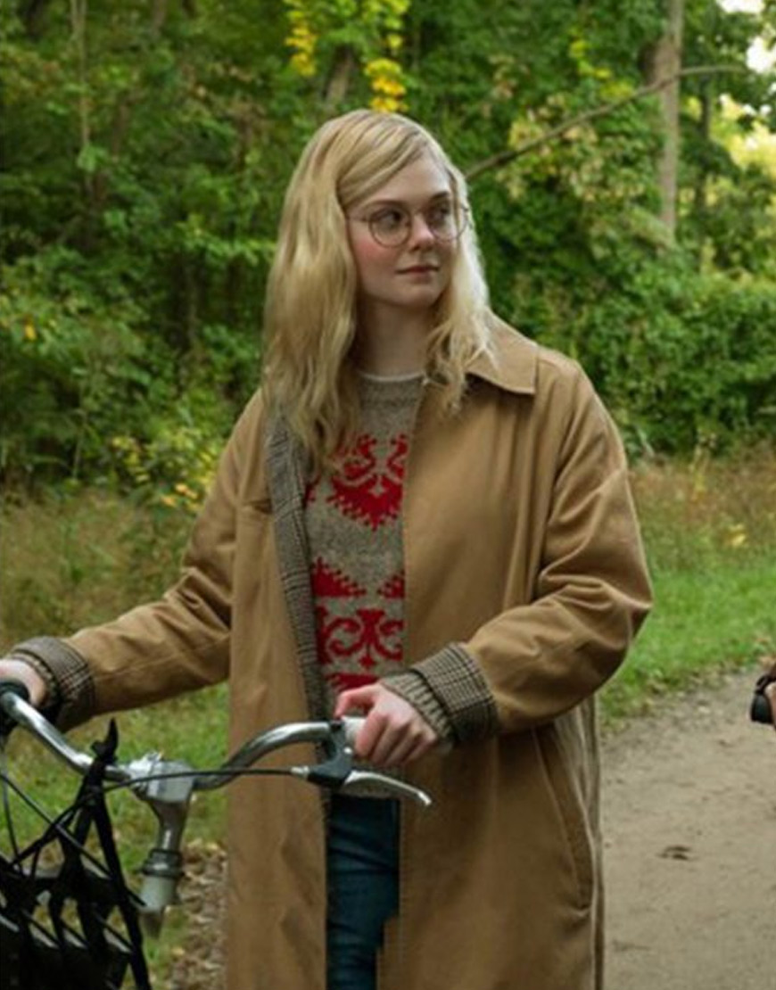 All the bright places Elle Fanning coat