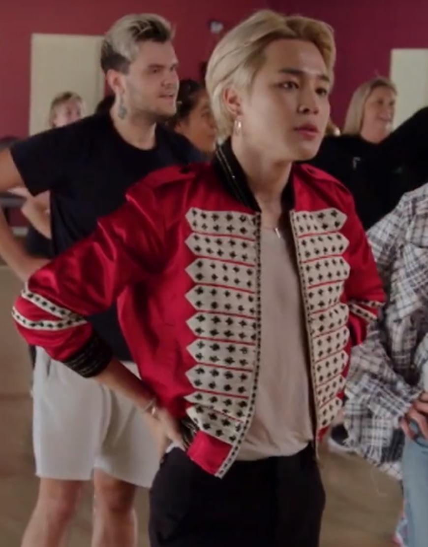 BTS-Suga-Red-Satin-Jacket