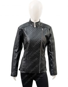 Black Motorcycle Women's Black Quilted Jacket
