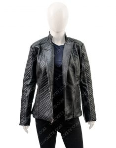 Black Motorcycle Women's Quilted Jacket