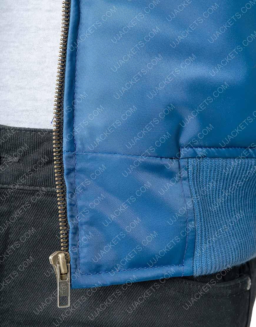 Blue QuiltedSuper Bowl Chris Evans Bomber Jacket