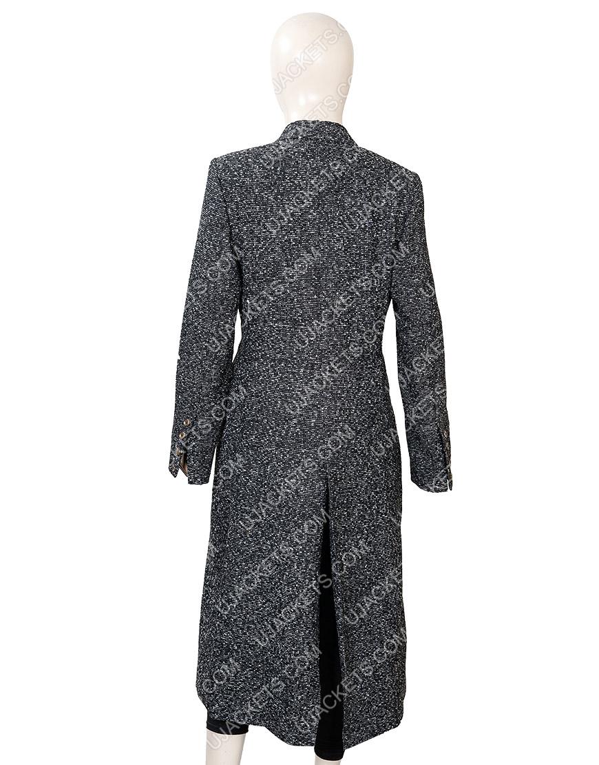 Elizabeth Lail You Guinevere Beck Grey Wool Coat