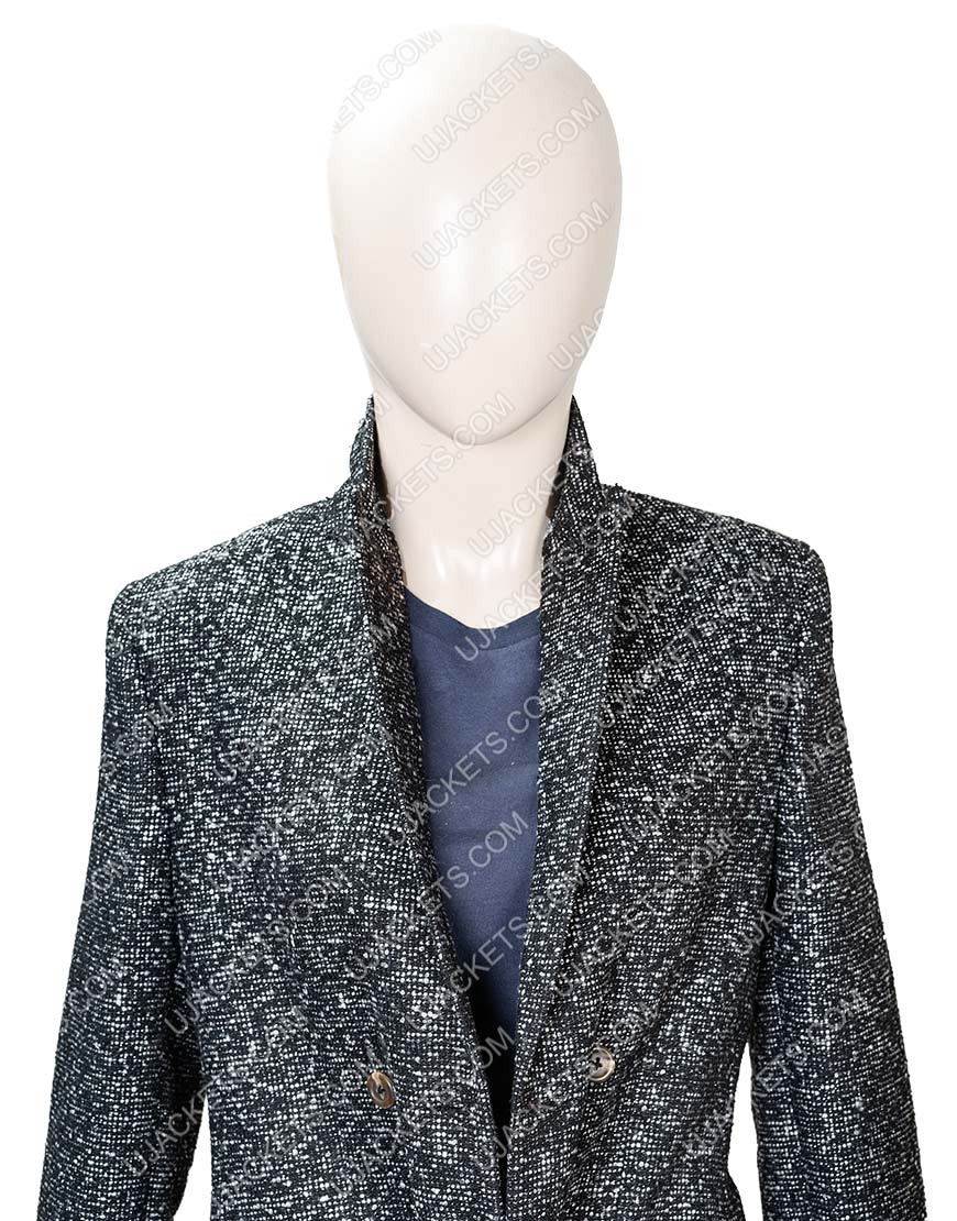 Elizabeth Lail You Season 2 Guinevere Beck Grey Coat