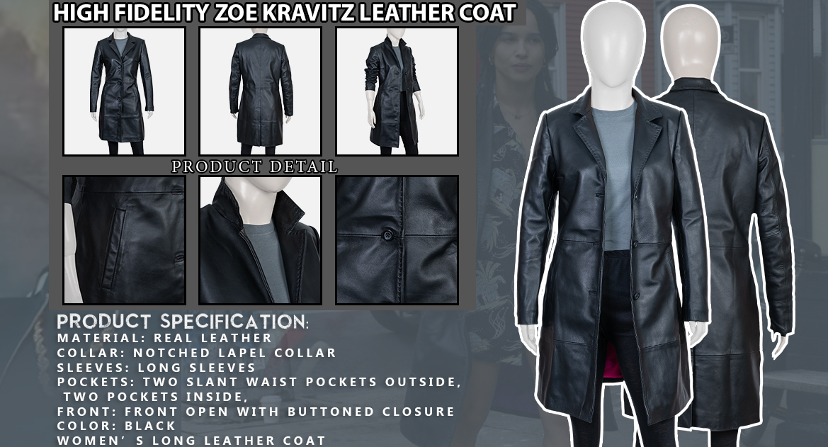 High-Fidelity-Zoe-Kravitz-Leather-Coat