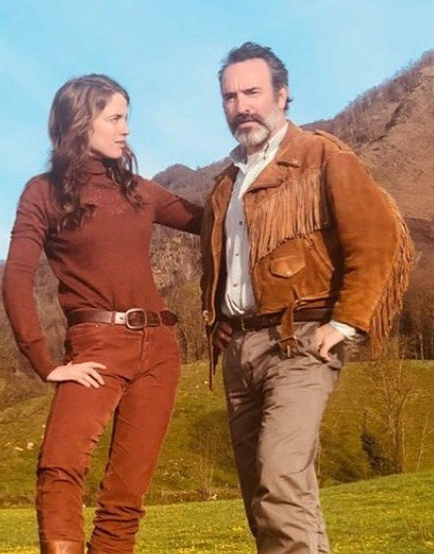Jean-Dujardin-Georges-Deerskin-Brown-Fringed-Jacket
