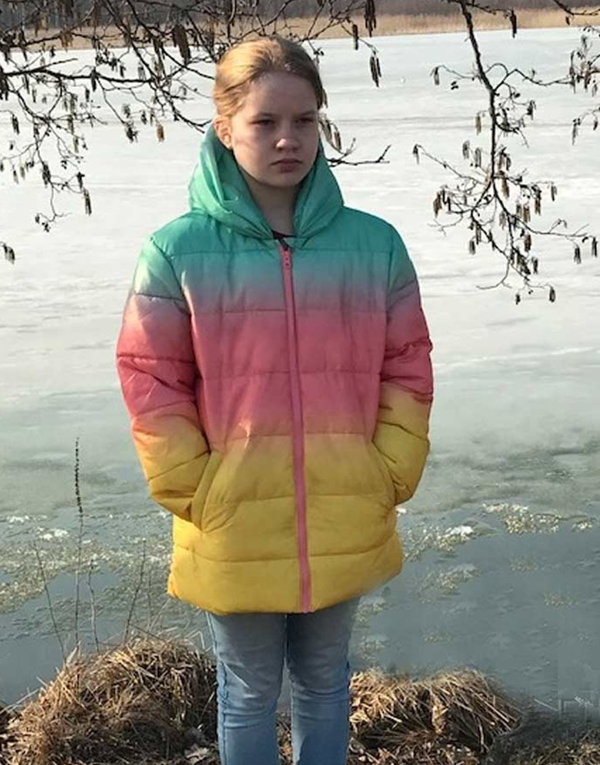 No Time To Die Ombre Rainbow Puffer Jacket