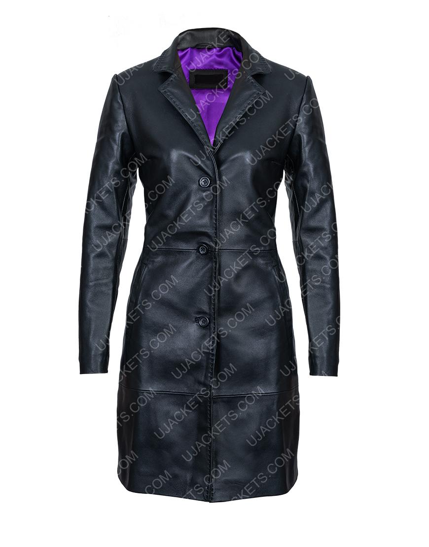 Robyn 'Rob' Brooks High Fidelity Black Leather Coat