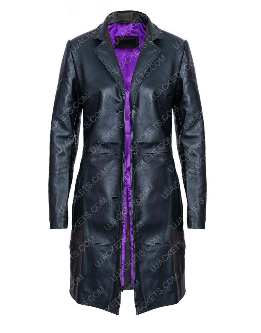 Robyn 'Rob' Brooks High Fidelity Zoe Kravitz Black Coat