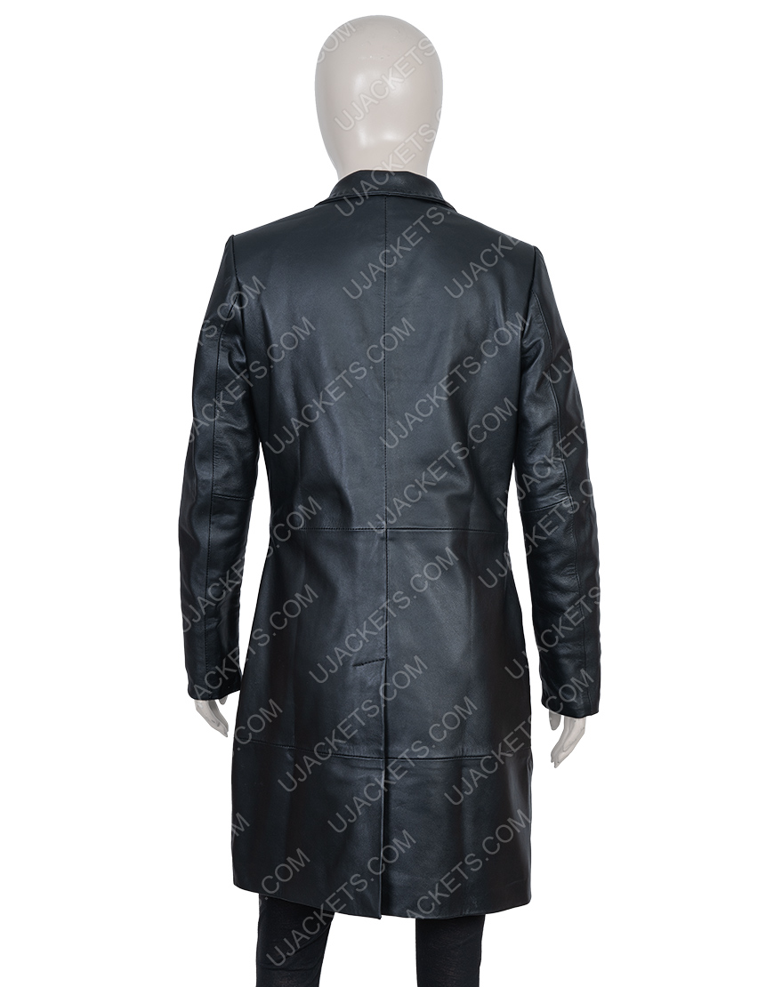 Robyn 'Rob' Brooks High Fidelity Zoe Kravitz Leather Coat