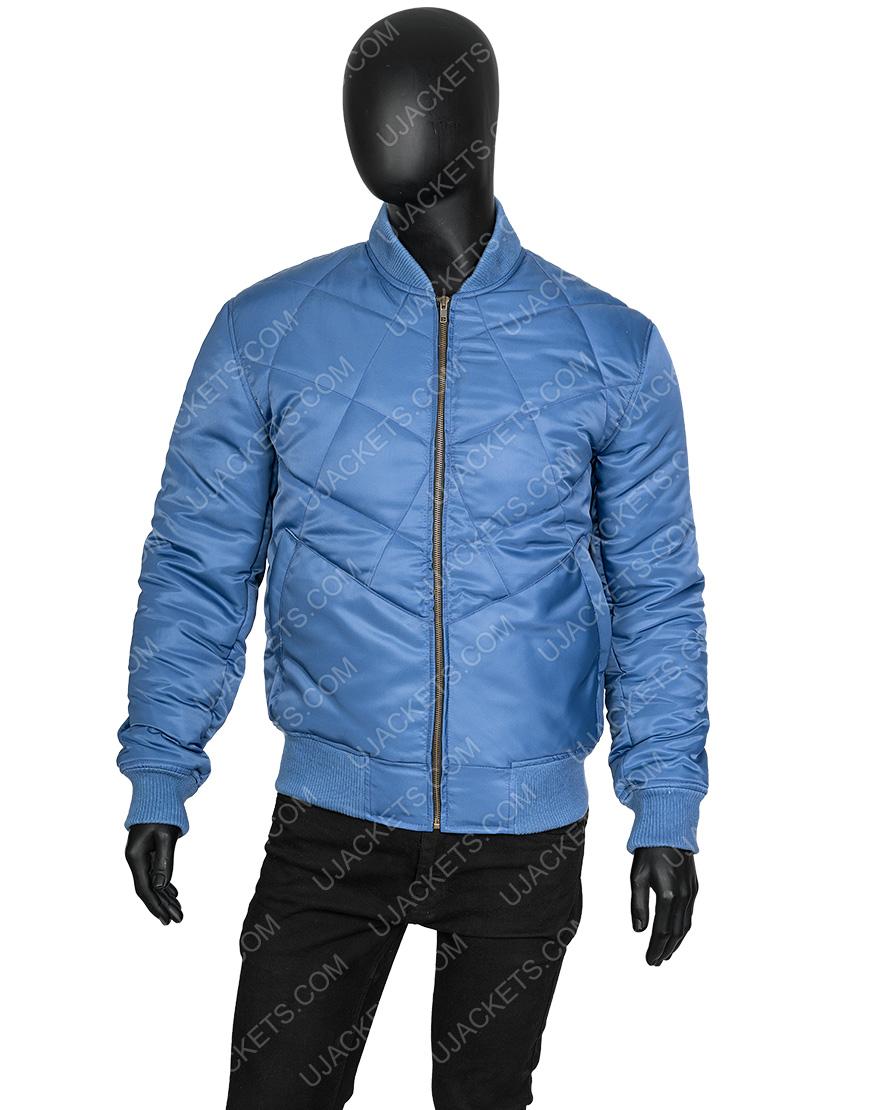Super Bowl Blue Chris Evans Bomber Jacket