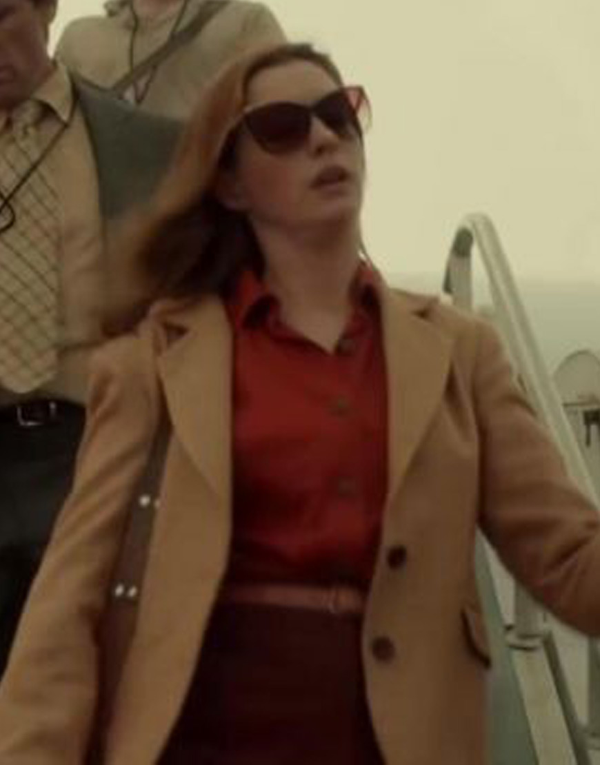 The-Last-Thing-He-Wanted-Anne-Hathaway-Wool-Brown-Coat