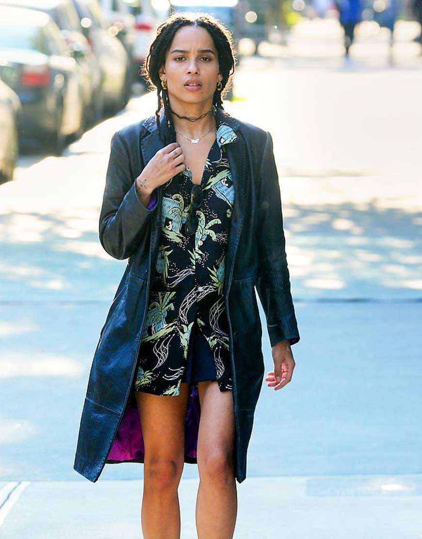 Zoe-Kravitz-High-Fidelity-Leather-Coat