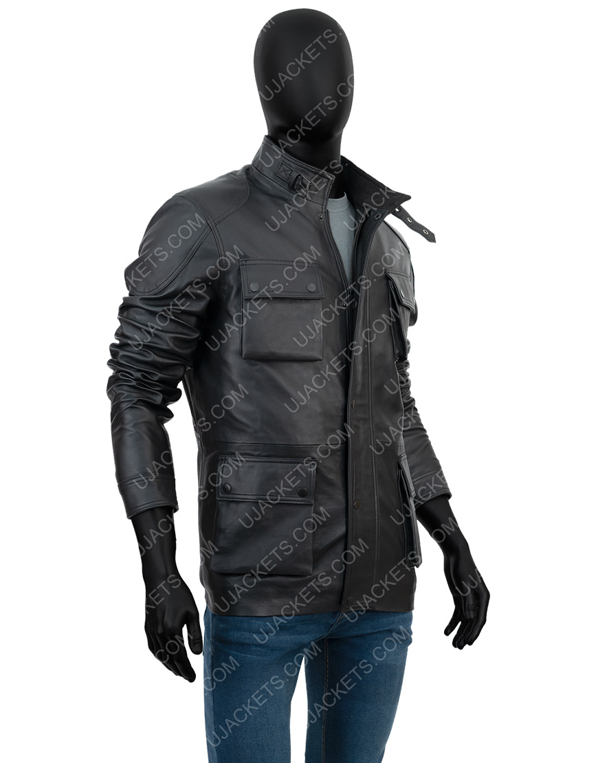 Anthony Mackie Altered Carbon S02 Takeshi Kovacs Leather Jacket