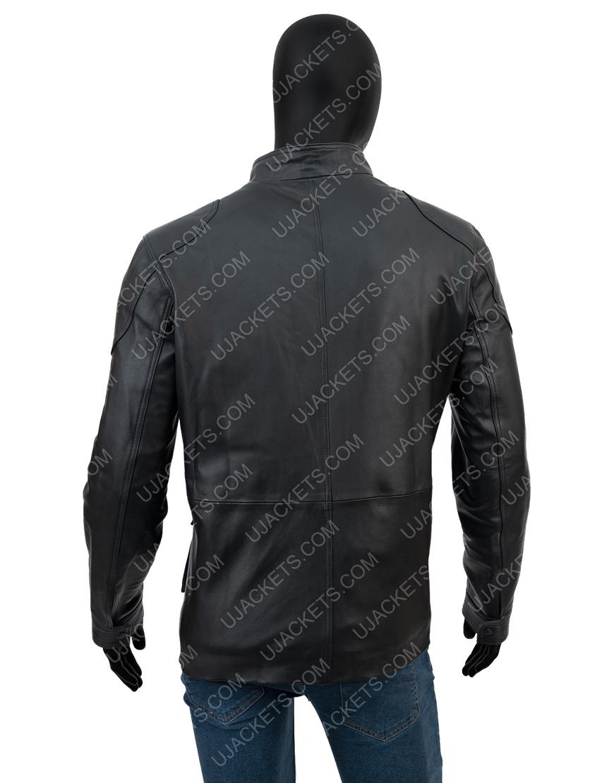 Anthony Mackie Altered Carbon Takeshi Kovacs Black Leather Jacket