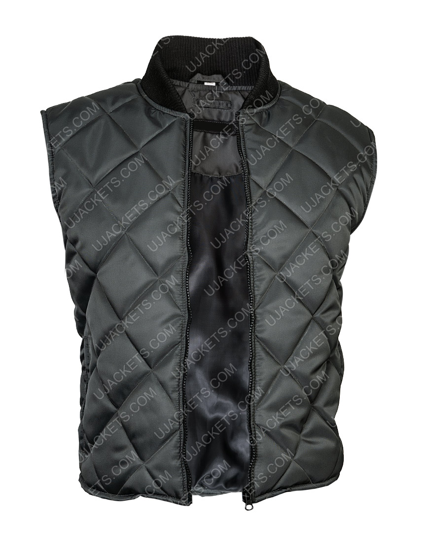 Creed Adonis Johnson Grey Quilted Vest