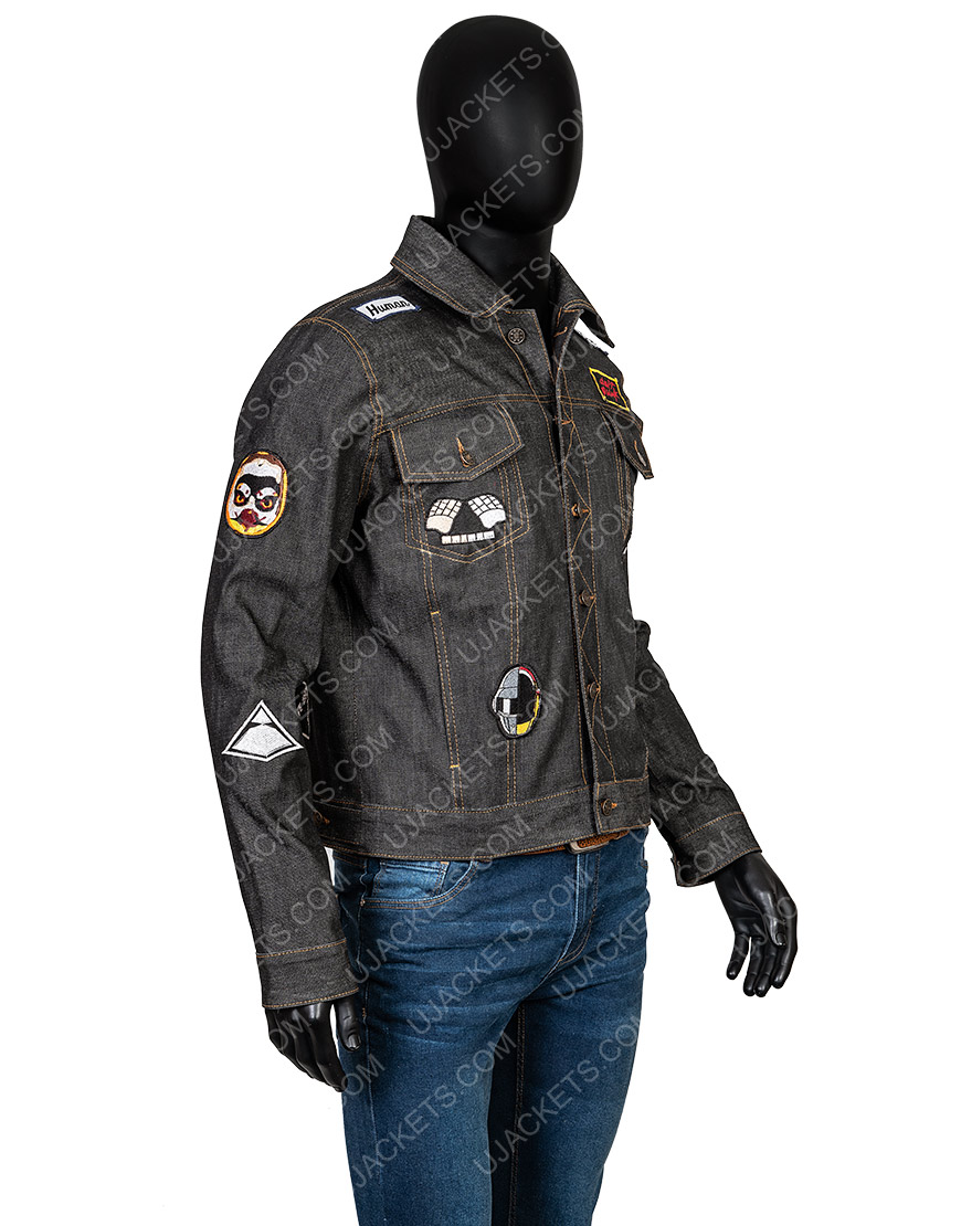 Daft Punk Black Jacket With Patches