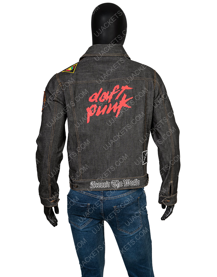 Daft Punk Black Patched Denim Jacket